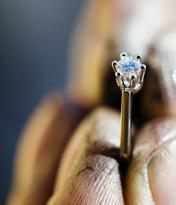 Feinheit Goldschmiede Ring Polieren