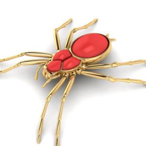 """""""The friendly Spider"""" Brosche"""