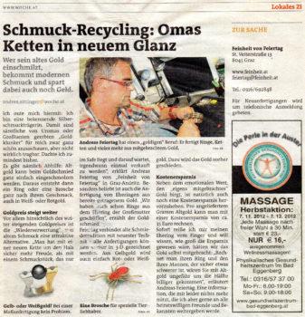 Bericht über Schmuck Recycling Woche