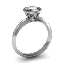 Feinheit Goldschmiede Verlobungsring Tiffany mit Zarge