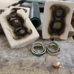 Feinheit Goldschmiede Ehering Workshop Zwei Ringe aus einem Guss